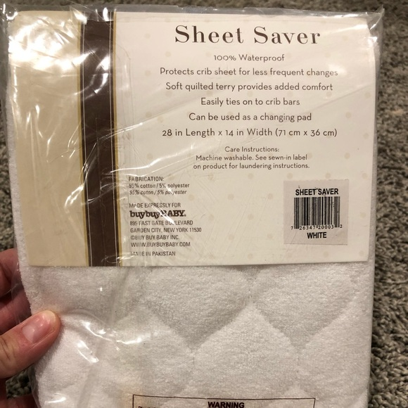 Baby Sheet Saver Pad by BE White